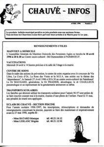 1996 - Bulletin municipal 002