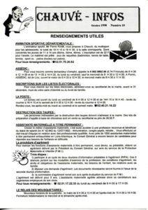 1998 - Bulletin municipal 010