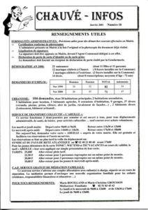 2001 - Bulletin municipal 018