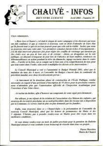 2001 - Bulletin municipal 019