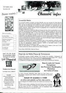 2003 - Bulletin municipal 029